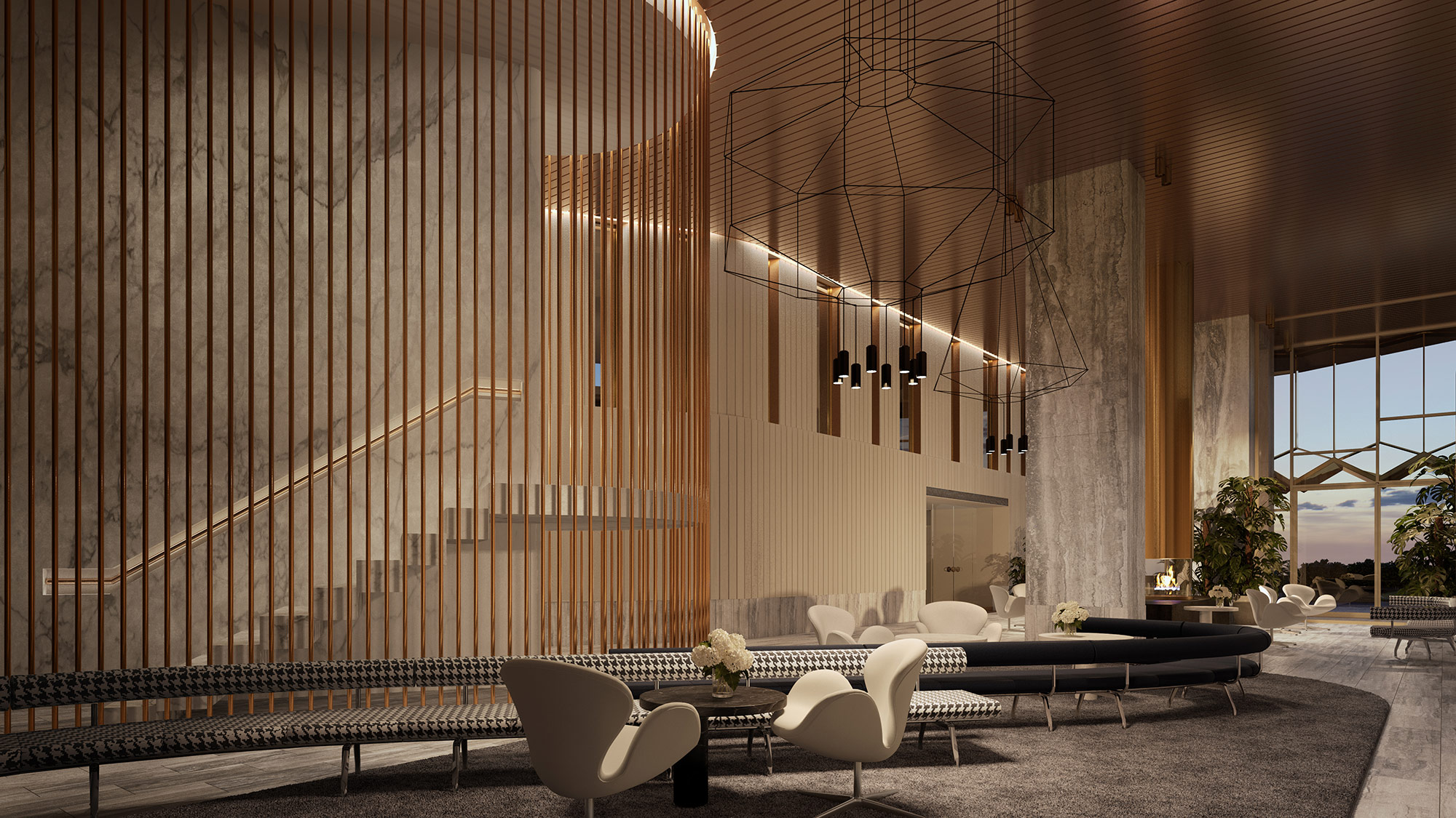 Inside West Side Place Apartments Lounge Render