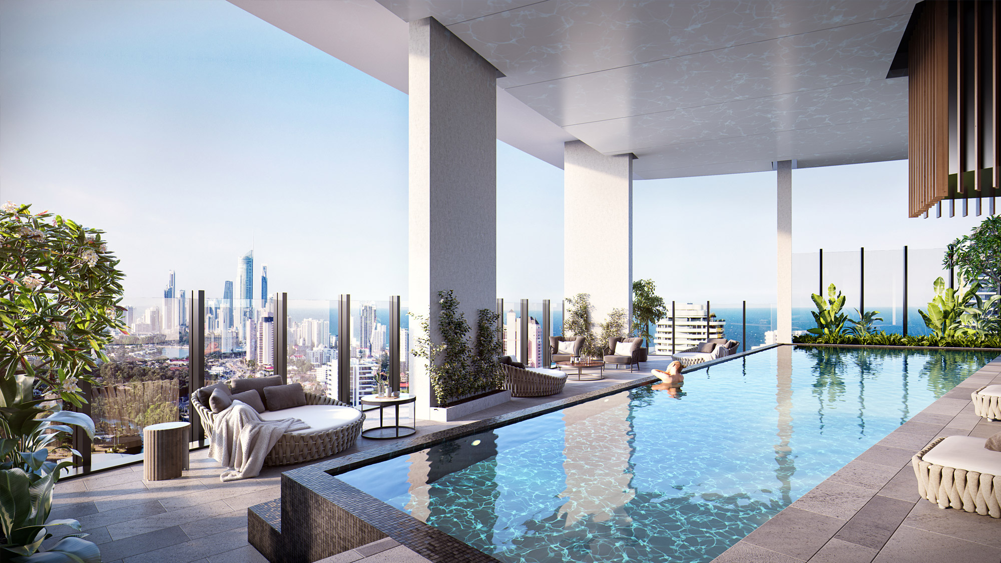 Gold Coast Apartment Outdoor Pool Area