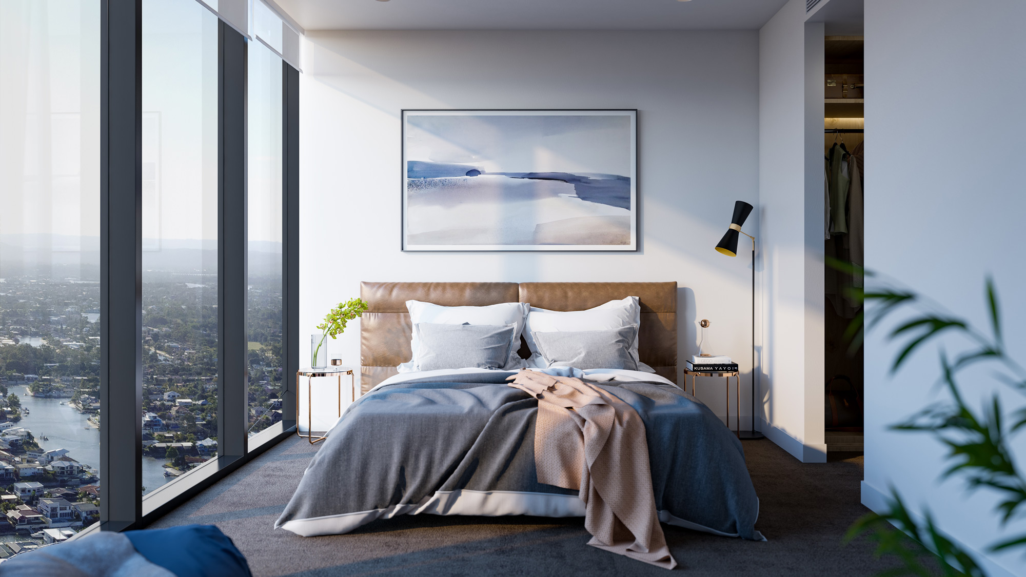 Bedroom Gold Coast Apartment View