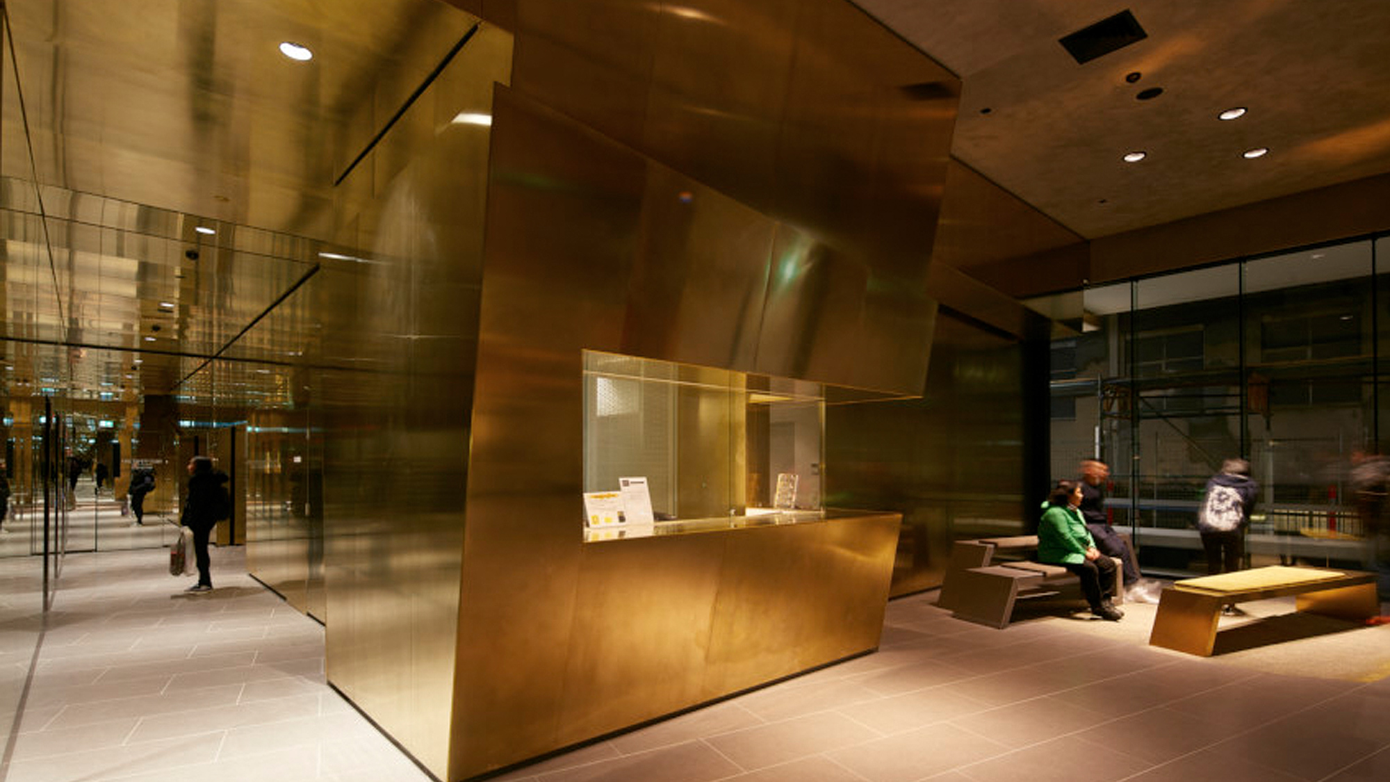 Building interior in Gold
