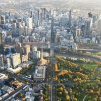 Melbourne City Aerial View