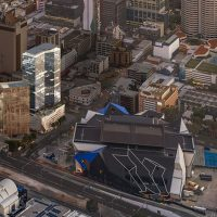 View of Perth city center from the sky